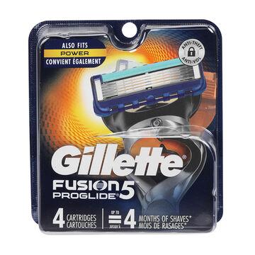 Gillette Fusion ProGlide Manual Blades - 4 cartridges