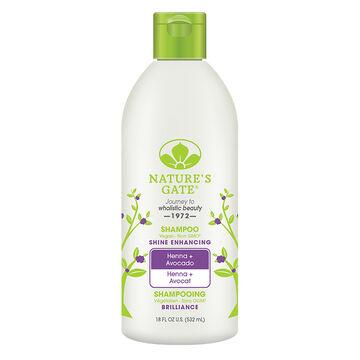 Nature's Gate Shampoo Henna + Avocado - Shine Enhancing - 532ml