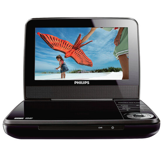 Philips Portable DVD Player with Car Adaptor - Black - PET741M37