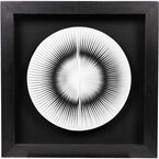 London Drugs Paper Art with Black Frame - Round Fan