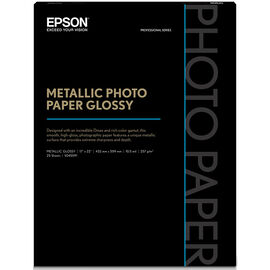 Epson Metallic Photo Paper - Glossy - 17x22inch - 25 sheets - S045591