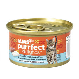 Iams Purrfect Delight Cat Food - Tuna and Mackerel - 85g