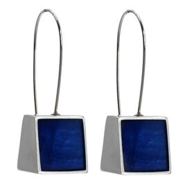 Merx Resin Shell Drop Earrings - Royal Blue