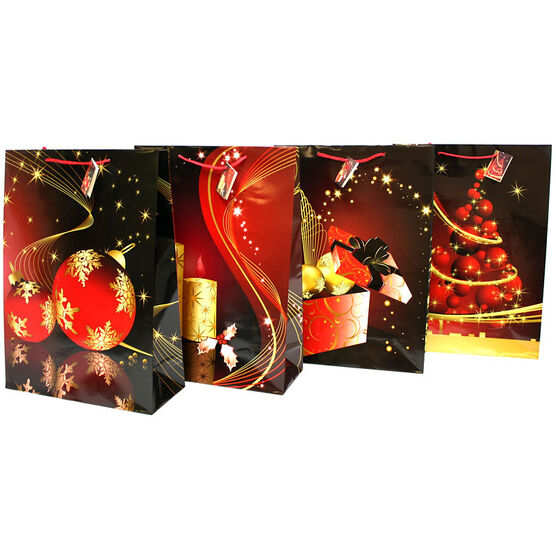 Christmas Décor Gift Bag - Assorted - Jumbo