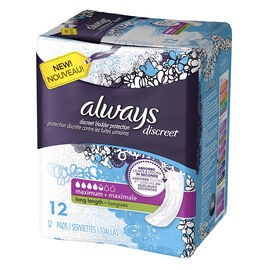 Always Discreet Pads Maximum Long Length - 12's