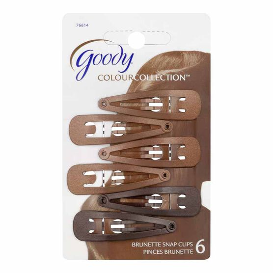 Goody Colour Collection Contour Clips - Brown - 6 pack