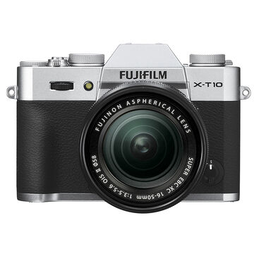 Fuji X-T10 with 16-50mm Lens - Silver - 600015526