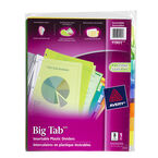 Avery Big Tab Insertable Plastic Dividers - 8-Tab set - 11901