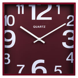 London Drugs Wall Clock - Red - Square