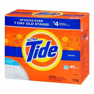 Tide Ultra HE Powder Laundry Detergent - Original - 1.6kg / 40 Use