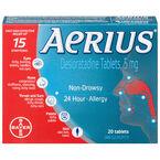 Aerius Allergy - Non-Drowsy - 24 Hour - 20's