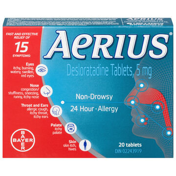 Aerius Allergy - Non-Drowsy - 24 Hour - 20's