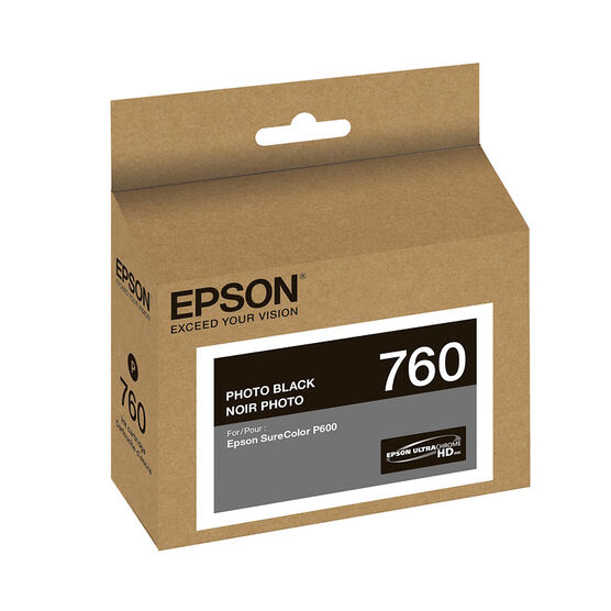 Epson UltraChrome HD Ink Cartridge - Photo Black - T760120