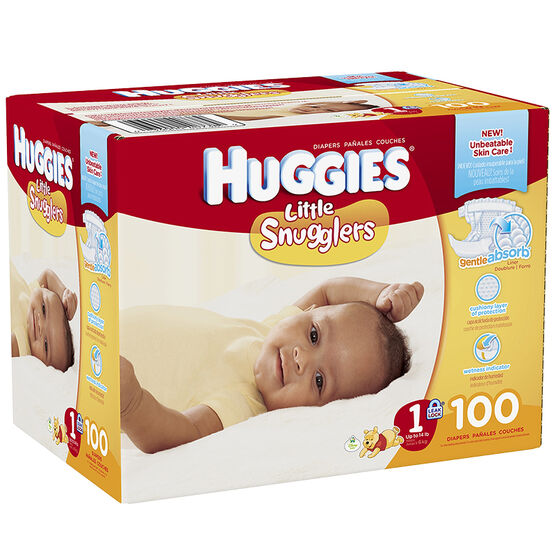 Huggies Little Snugglers Diapers - Step 1 - 100's