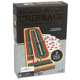 Solid Wood 3-Track Cribbage Game