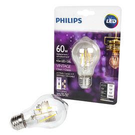 Philips A19 Vintage Filament LED Light Bulb - Clear - 60w