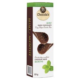 Chocola's Crispy Belgian Chocolate Thins - Mint Dark Chocolate - 125g