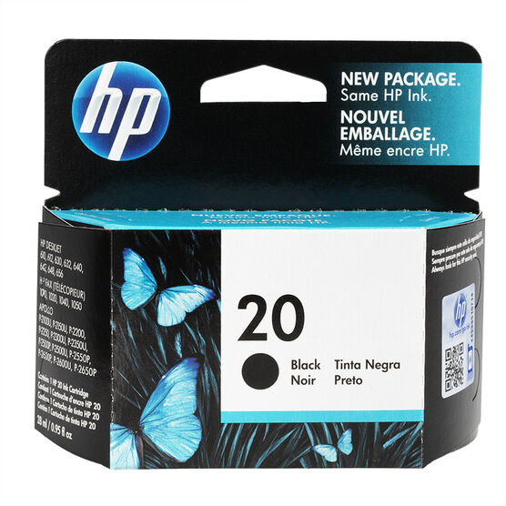HP 20 Inkjet Print Cartridge - Black - C6614D