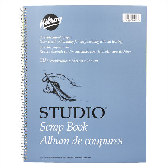 Hilroy Studio Scrapbook - 11 x 14 inch - 20 sheets