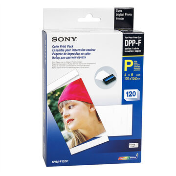 Sony SVMF120P 4x6-inch Printer Paper with Snap-Off Edges - 120 sheets