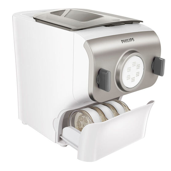 Philips Pasta Maker with One-Push Cleaning Tool - White/Silver - HR2357/05