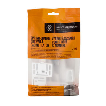 Prince Lionheart Drawer & Cabinet Latch - 14 pack - 2063