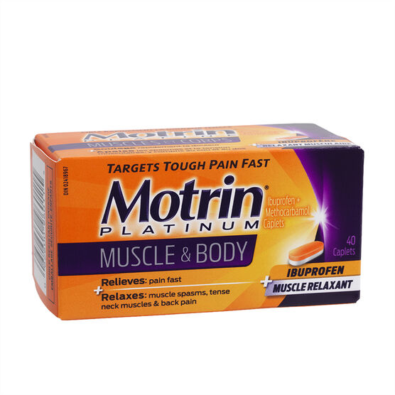 Motrin Platinum Muscle and Body Caplets - 40's