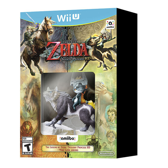 Wii U The Legend of Zelda: Twilight Princess HD with Wolf Link Amiibo