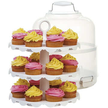 PL8 24 Cupcake Carrier/Server - White