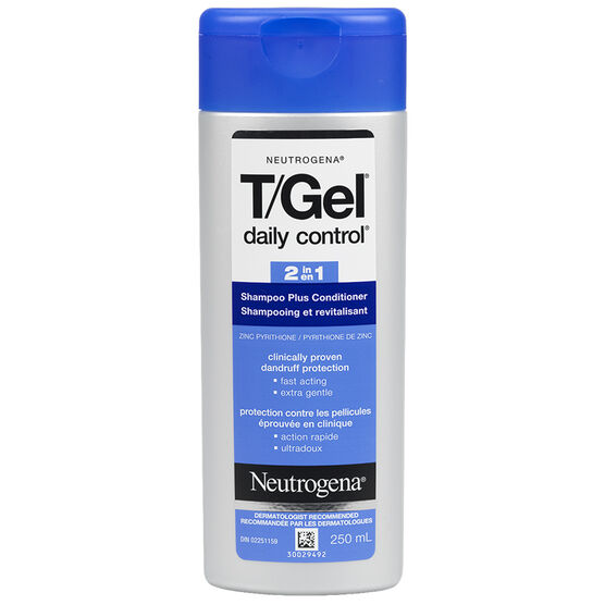 Neutrogena T/Gel Daily Control 2 in 1 Dandruff Shampoo & Conditioner - 250ml