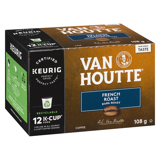 K-Cup Van Houtte Dark Roast Coffee - French Roast - 12 Servings