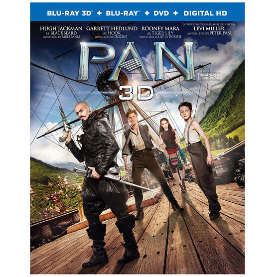 Pan 3D - 3D Blu-ray + Blu-ray + DVD + Digital