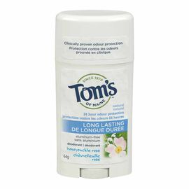 Tom's of Maine Deodorant Stick Long Lasting - Honeysuckle Rose - 64g