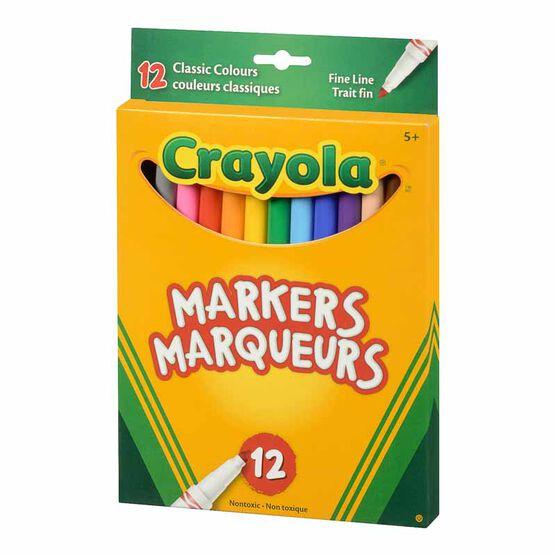 Crayola iQ Original Fine Line Markers - 10 pack