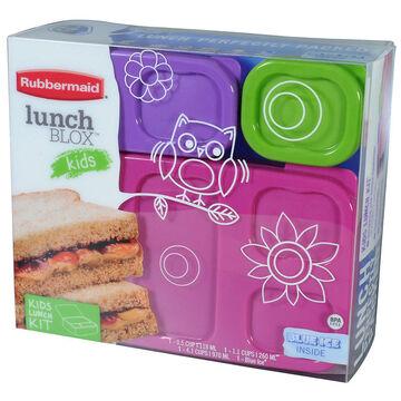 Rubbermaid Lunchblox Flat Kids Set - Girls