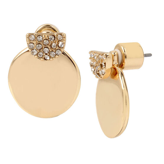 Kenneth Cole Circle Earring - Crystal/Gold