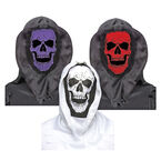Halloween Hooded Skull Mask - Assorted