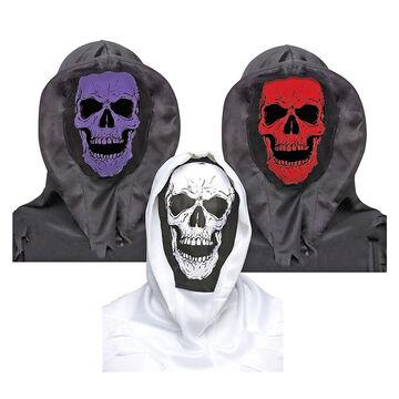 Halloween Hooded Skull Mask - Assorted