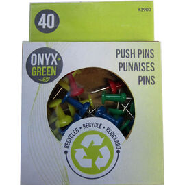 Onyx Green Push Pins - 40's