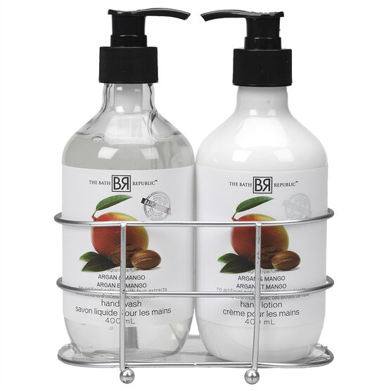 The Bath Republic Caddy Gift Set - Argan Mango - 2 piece