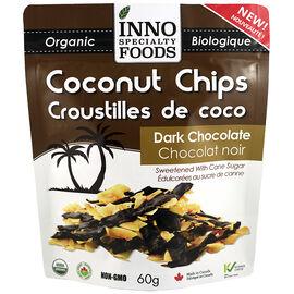 Inno Specialty Foods Coconut Chips - Dark Chocolate - 60g