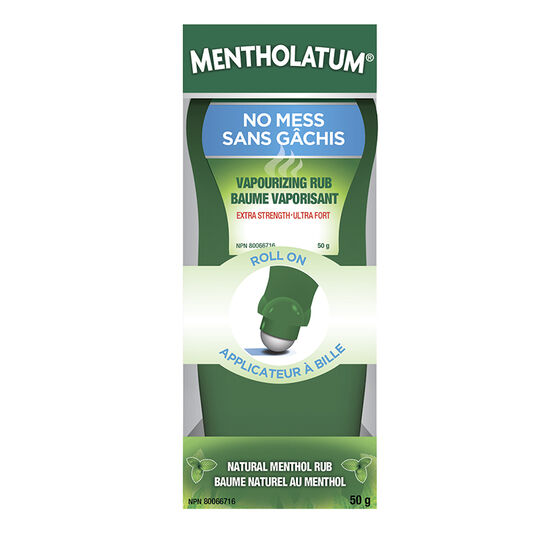 Mentholatum Vaporizing Rub Roll On - Extra Strength - 52ml
