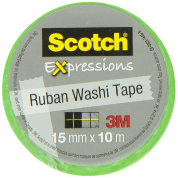 3M Scotch Expressions Ruban Washi Tape - Green/White Swiss Dot
