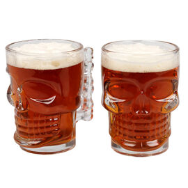 Skull Beer Mug - 550ml - 2 pack
