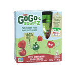 Materne Gogo Squeeze - Apple Strawberry - 4 x 90g pouches