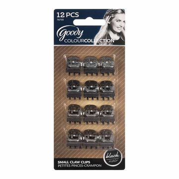 Goody Colour Collection Mini Claw Clips - Black - 12 pack