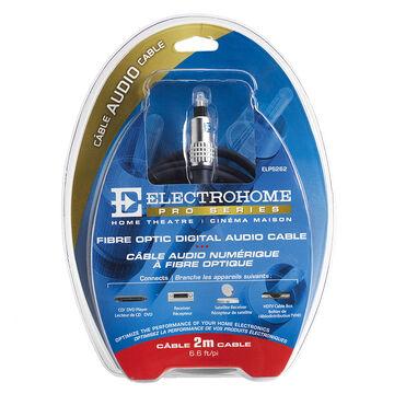 Electrohome 2m Fibre Optic Audio Cable Toslink & Mini Adaptor - ELPS262