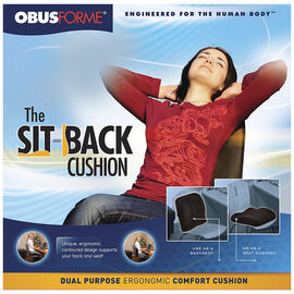 ObusForme Sit Back Cushion - CU-SBC-BK