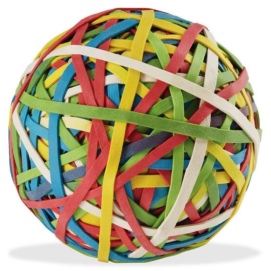 ACCO Jumbo Rubber Band Ball - Assorted - 275's
