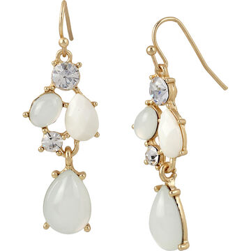 Haskell Stone Crystal Earrings - Multi/Gold